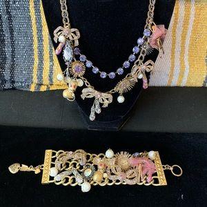 Betsey Johnson ballerina statement toggle bracelet